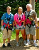 Geared up for the ropes course