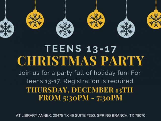 Christmas Party Ideas For Teens.Teen Christmas Party Kids Out And About San Antonio