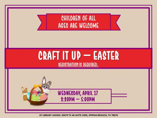Craft It Up Easter Craft Kids Out And About San Antonio