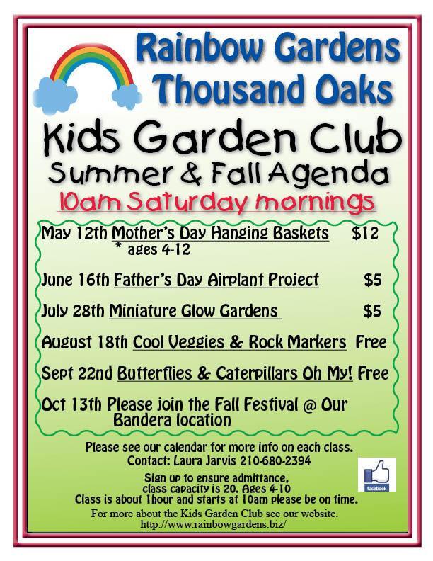 Kids Garden Club Guidelines