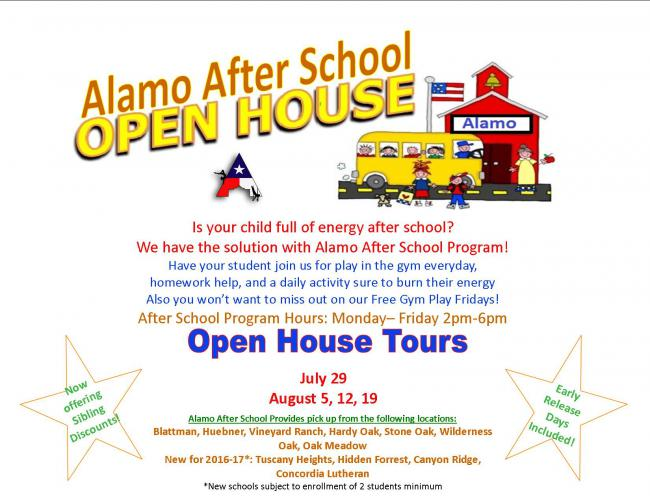 Alamo After School Program Open House Kids Out And About San Antonio