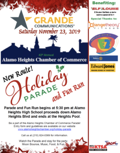 Alamo Heights Christmas Parade 2020 Alamo Heights Chamber of Commerce Holiday Parade and Fun Run